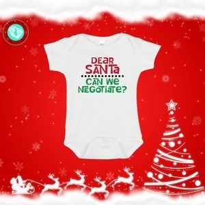 Dear Santa Can We Negotiate? Baby Onesie